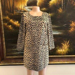 3/$25☀️ J.Crew Leopard Print Shift Dress Size 6